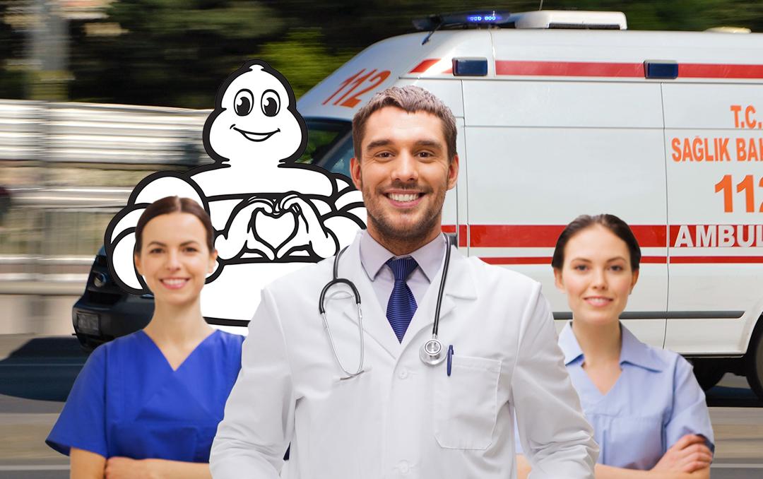 Ambulans lastikleri Michelin'den